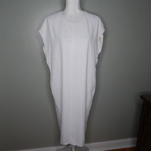 everlane women white dress sz 8